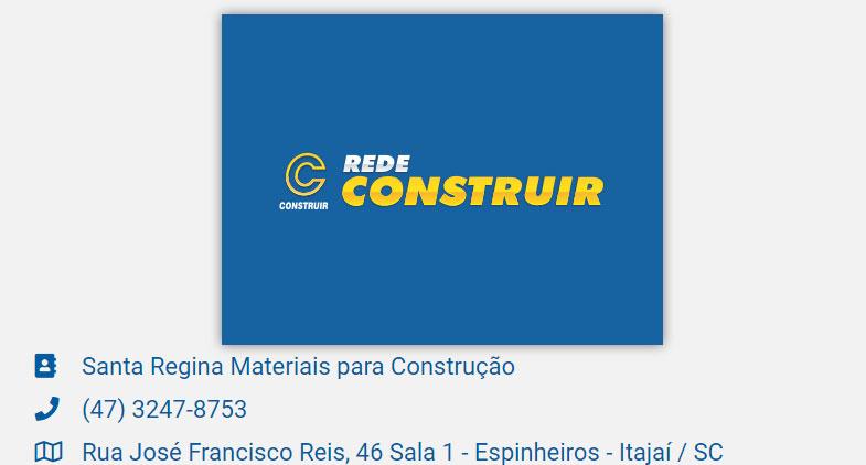 rede construir itajaí materiais de construção cordeiros santa regina costa cavalcante espinheiros são vicente são joão são judas promorar cidade nova ressacada vila operária